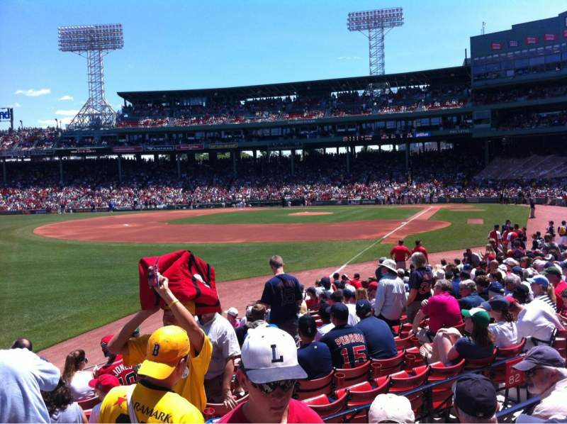 Seating view for Fenway Park Section Loge Box 163