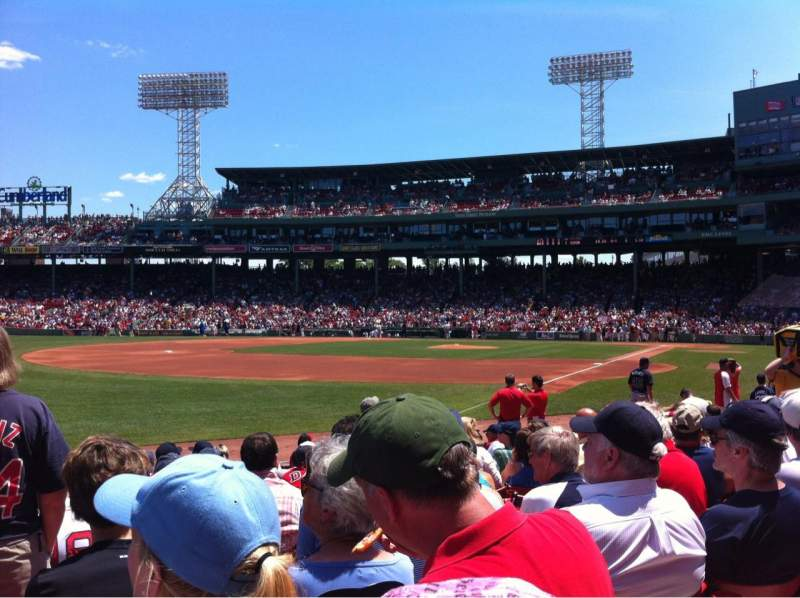 Seating view for Fenway Park Section Field Box 81