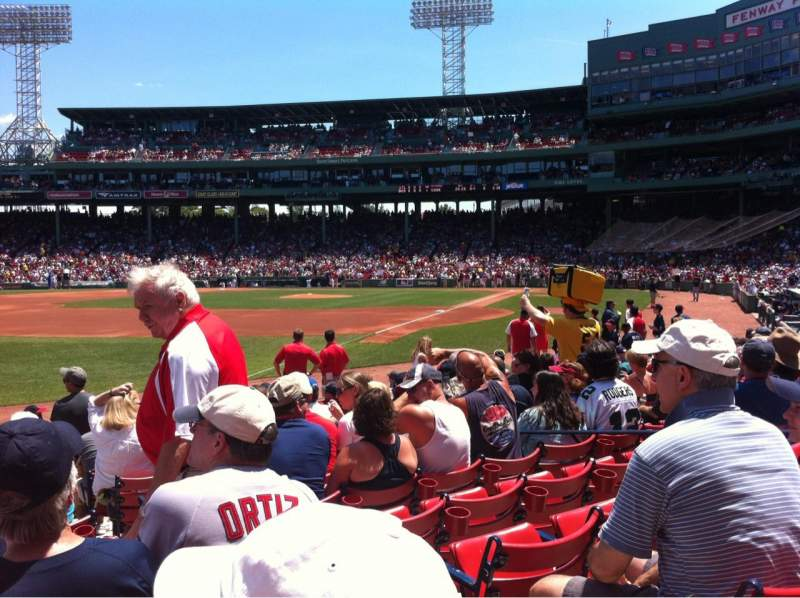 Seating view for Fenway Park Section Field Box 80