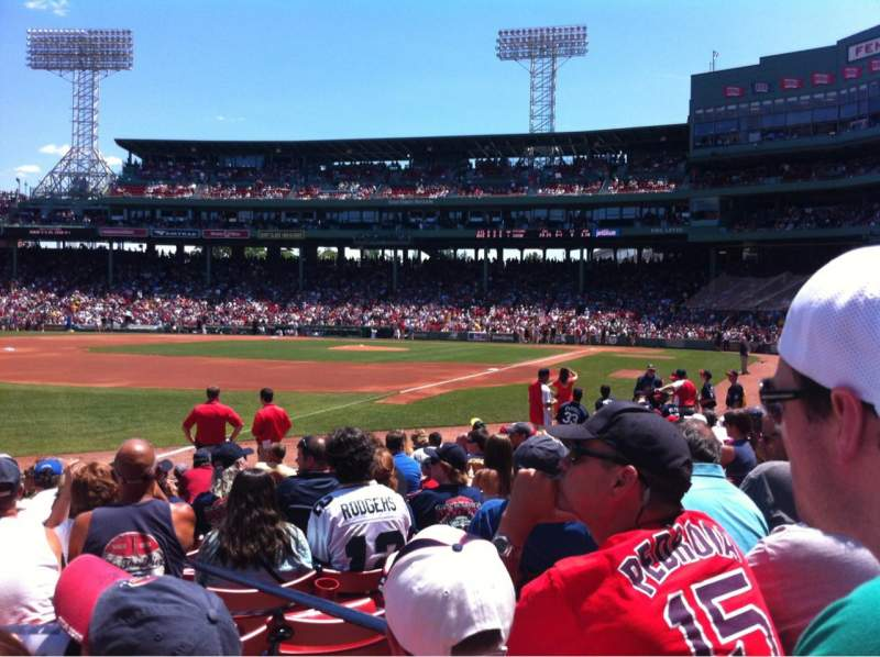 Seating view for Fenway Park Section Field Box 79