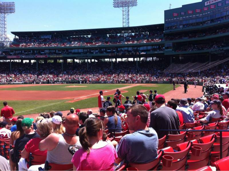 Seating view for Fenway Park Section Field Box 78 Row M