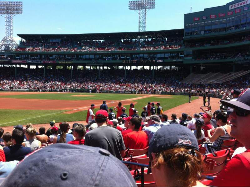 Seating view for Fenway Park Section Field Box 77 Row M