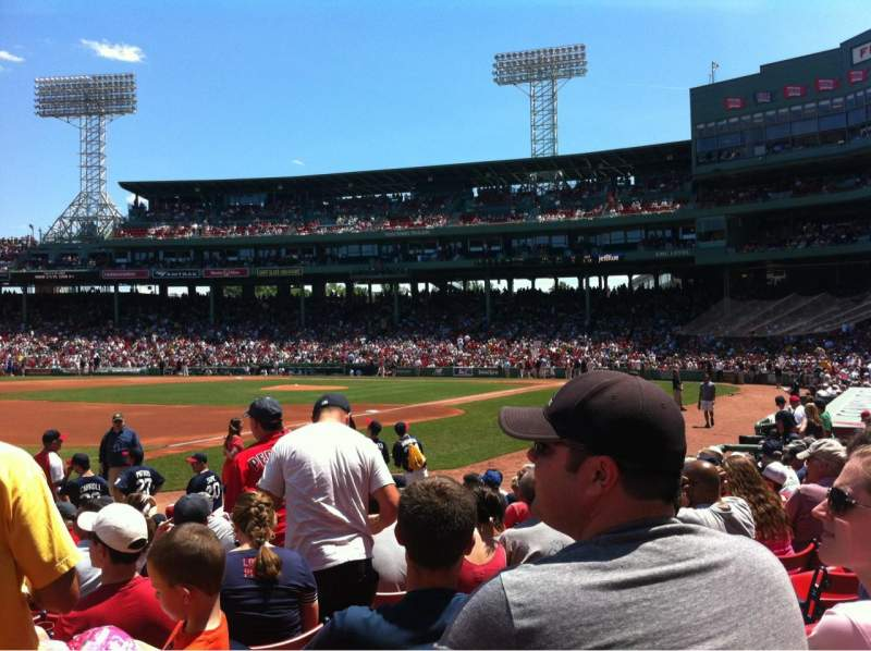Seating view for Fenway Park Section Field Box 75 Row M