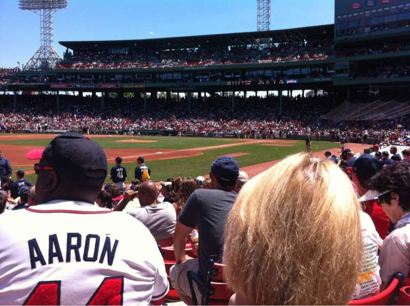 Seating view for Fenway Park Section Field Box 74 Row M
