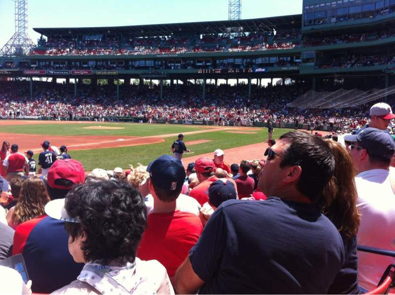 Seating view for Fenway Park Section Field Box 73 Row M