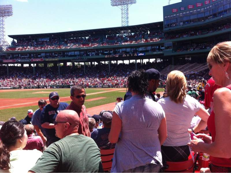 Seating view for Fenway Park Section Field box 72 Row M