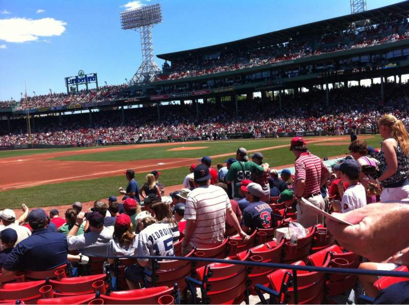 Seating view for Fenway Park Section Field box 71 Row M