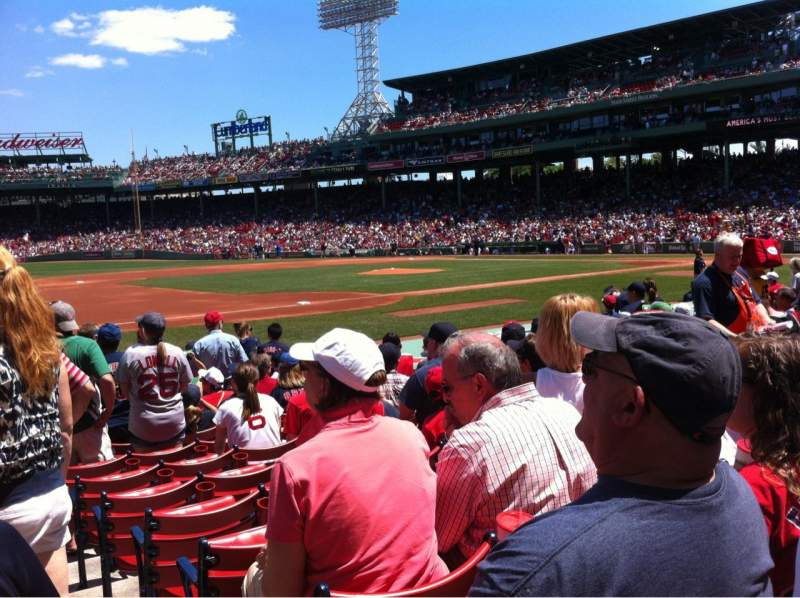 Seating view for Fenway Park Section Field box 70 Row M