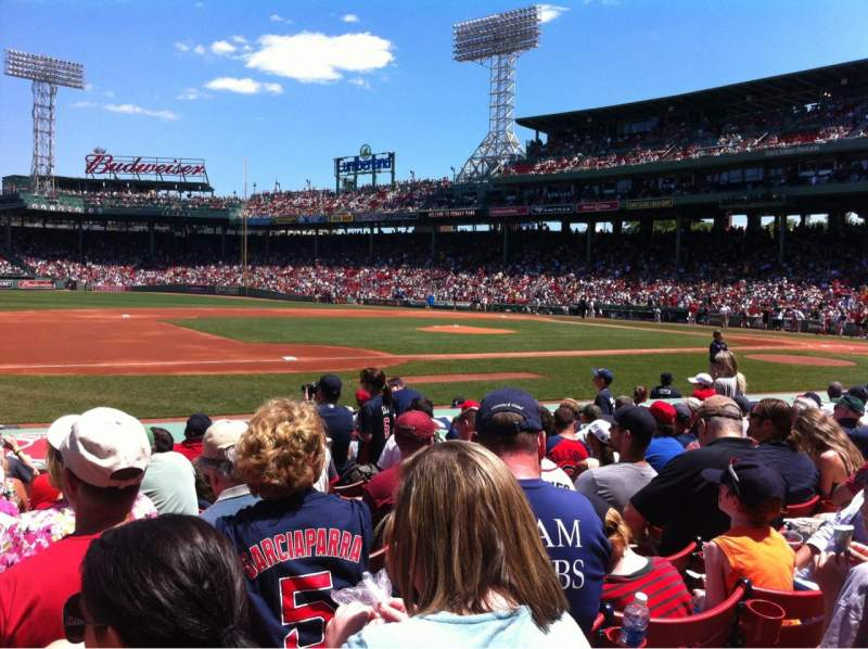 Seating view for Fenway Park Section Field box 68 Row M