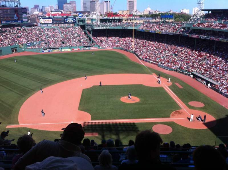 Seating view for Fenway Park Section 3rd Base Pavilion 6 Row E Seat 10