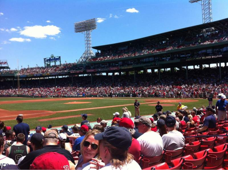 Seating view for Fenway Park Section Field box 66 Row M