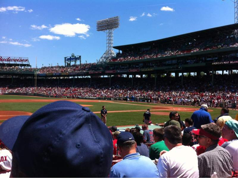 Seating view for Fenway Park Section Field box 65 Row M