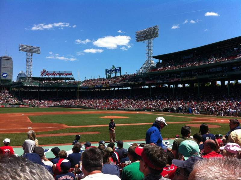 Seating view for Fenway Park Section Field box 64 Row M