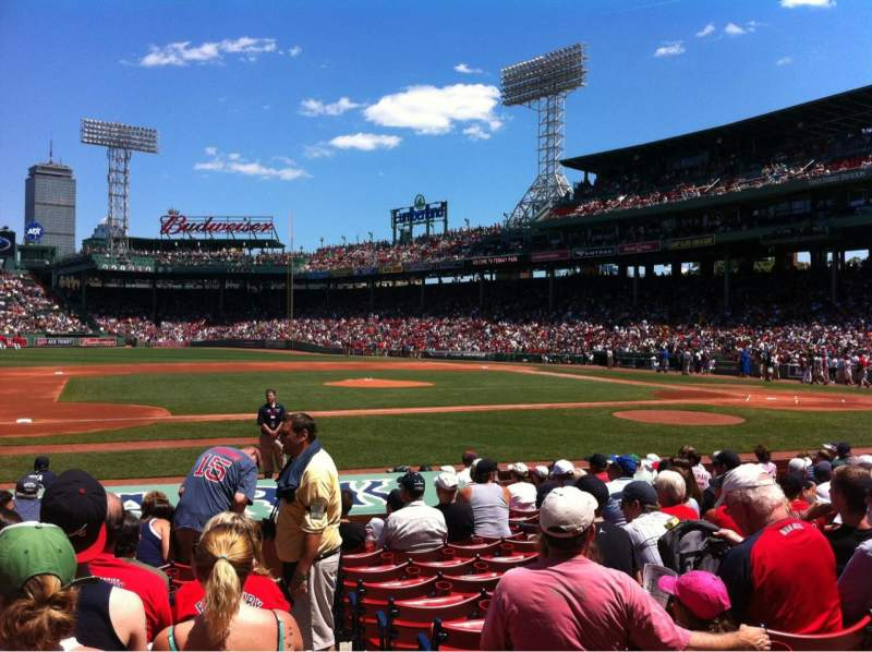 Seating view for Fenway Park Section Field box 63 Row M