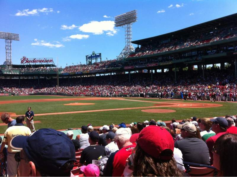 Seating view for Fenway Park Section Field box 62 Row M