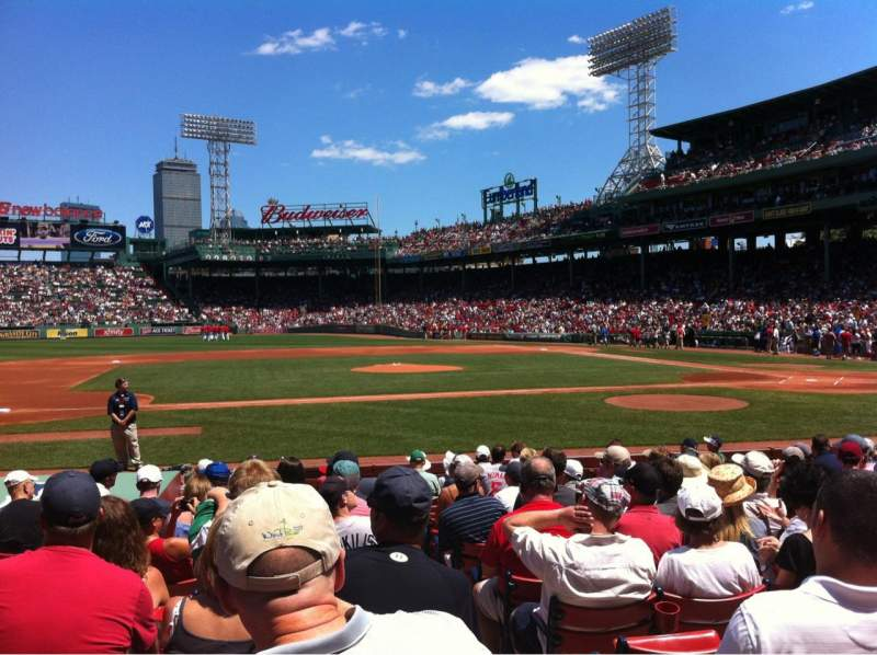 Seating view for Fenway Park Section Field box 61 Row M