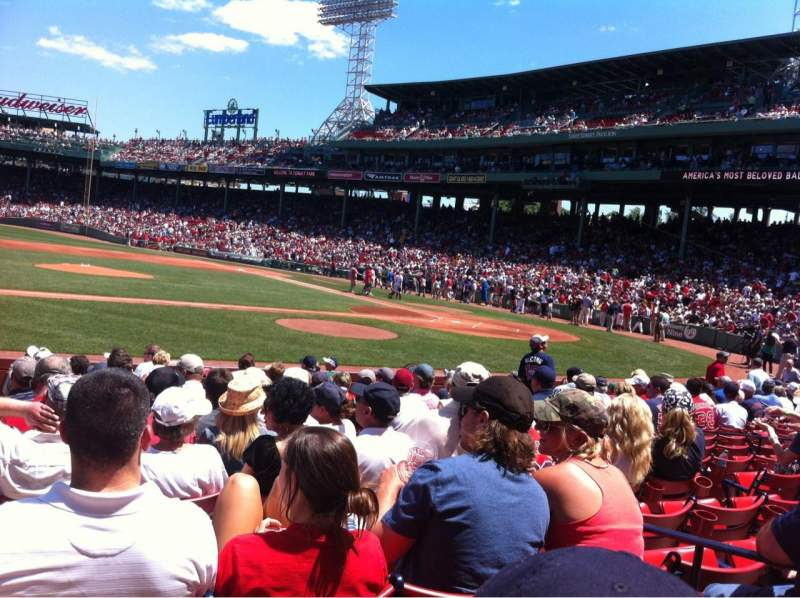 Seating view for Fenway Park Section Field box 60 Row M