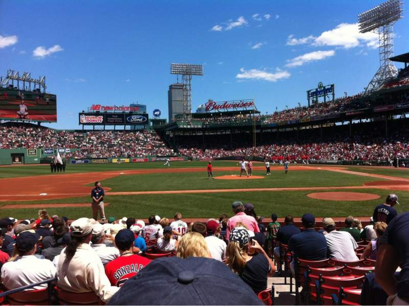 Seating view for Fenway Park Section Field box 59 Row M