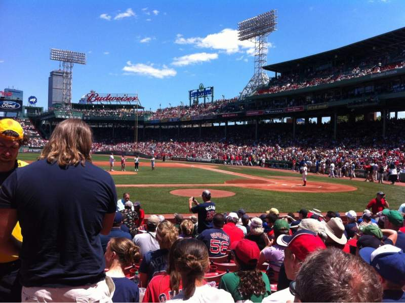 Seating view for Fenway Park Section Field box 58 Row M