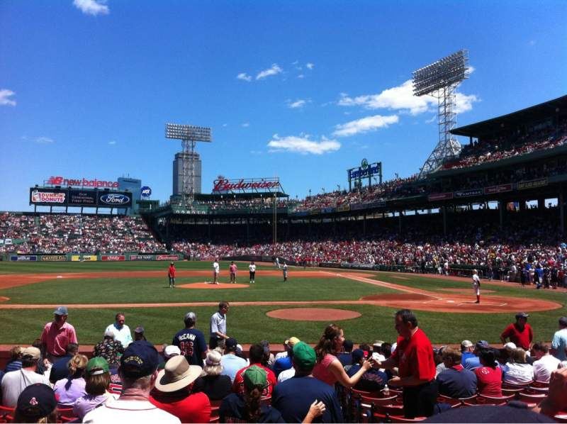 Seating view for Fenway Park Section Field box 57 Row M