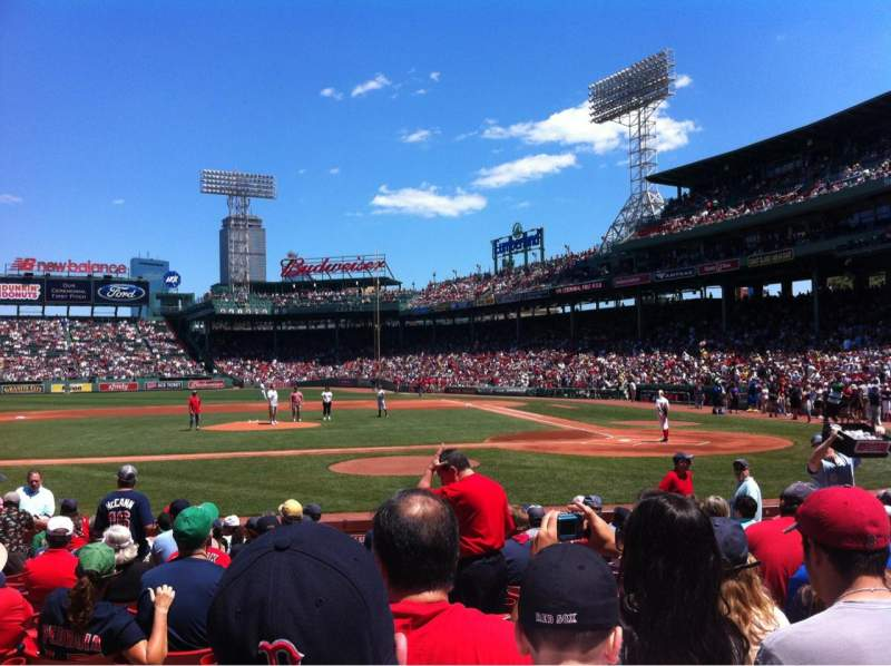Seating view for Fenway Park Section Field box 56 Row M