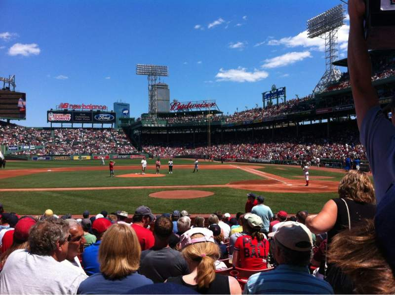 Seating view for Fenway Park Section Field box 55 Row M