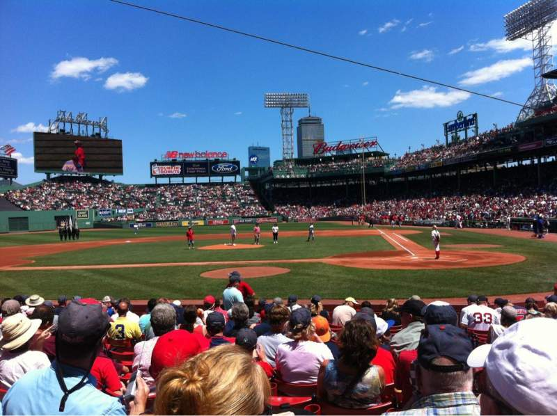 Seating view for Fenway Park Section Field box 53 Row M