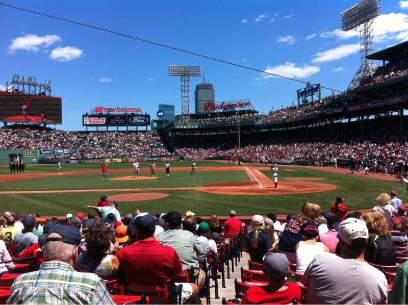 Seating view for Fenway Park Section Field box 52 Row M