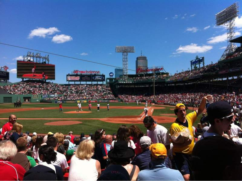 Seating view for Fenway Park Section Field box 51 Row M