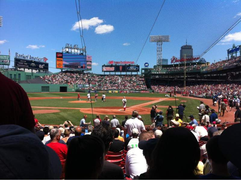 Seating view for Fenway Park Section Field box 48 Row M