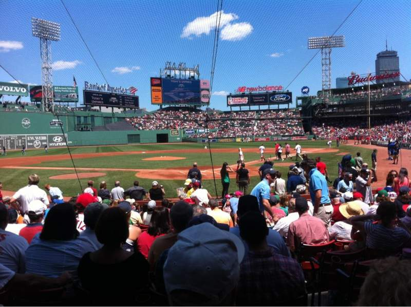 Seating view for Fenway Park Section Field box 47 Row M