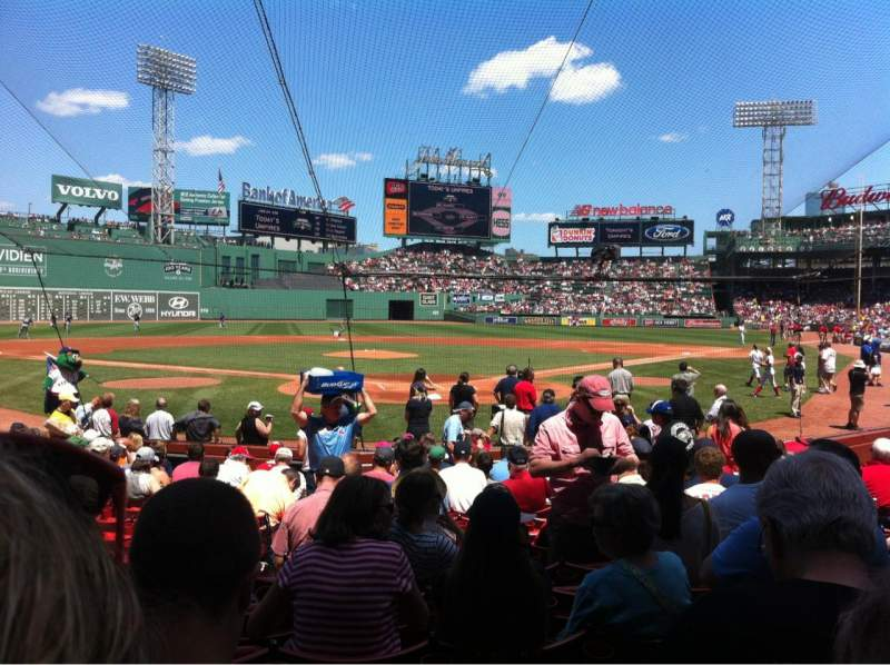 Seating view for Fenway Park Section Field box 46 Row M