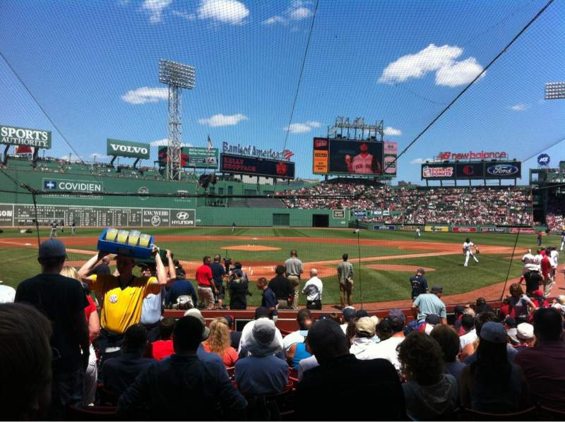 Seating view for Fenway Park Section Field box 44 Row M