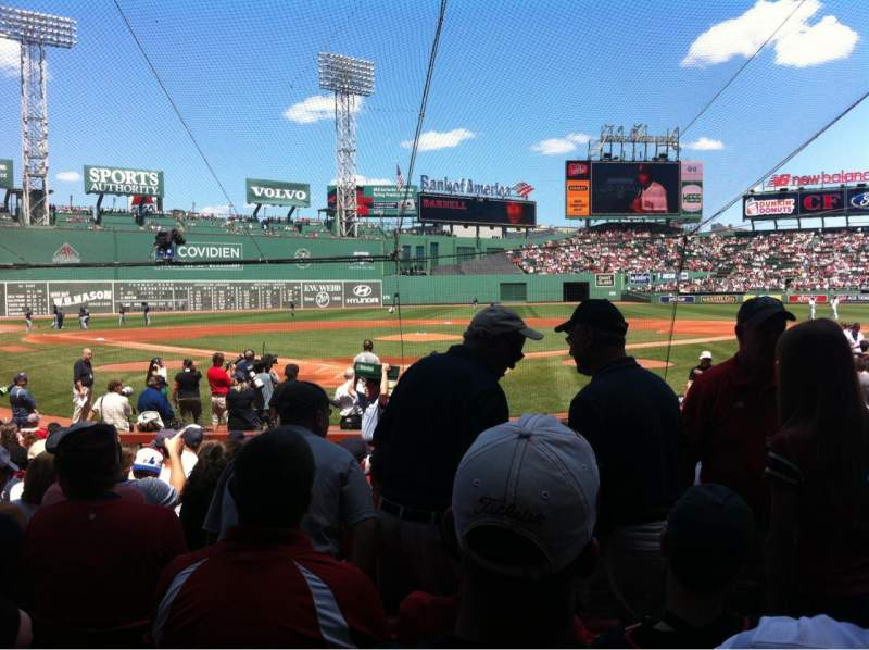 Seating view for Fenway Park Section Field box 43 Row M