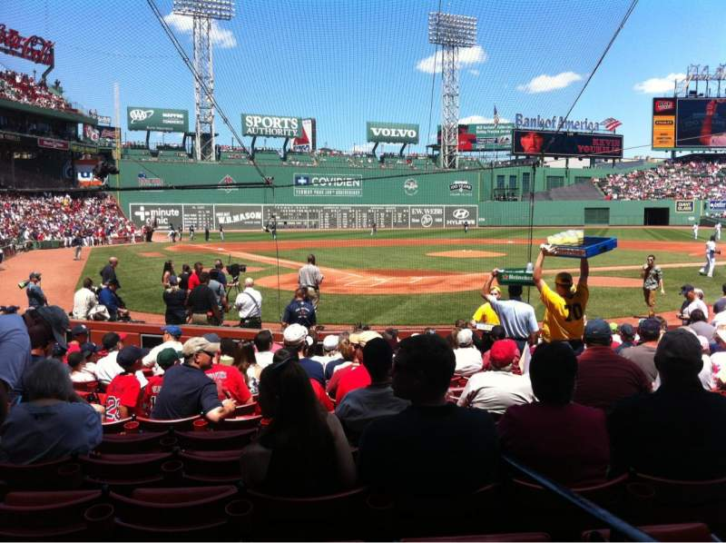 Seating view for Fenway Park Section Field box 42 Row M