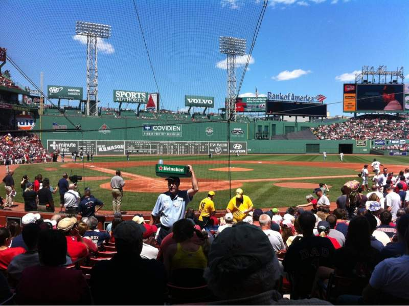 Seating view for Fenway Park Section Field box 41 Row M