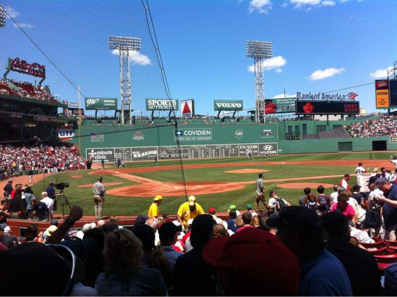 Seating view for Fenway Park Section Field box 40 Row M