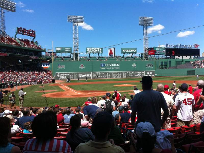 Seating view for Fenway Park Section Field box 39 Row M