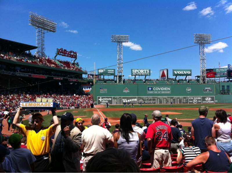 Seating view for Fenway Park Section Field box 38 Row M