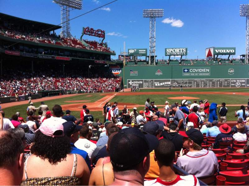 Fenway Park, section: Field box 37, row: M