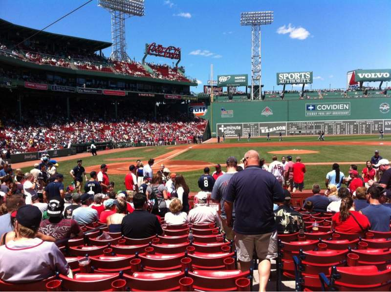Seating view for Fenway Park Section Field box 36 Row M