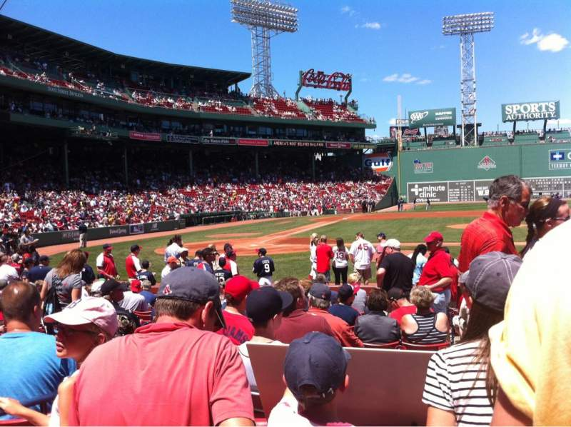 Seating view for Fenway Park Section Field box 34 Row M