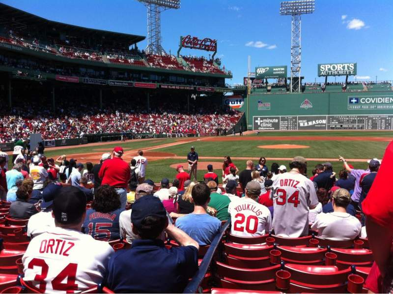 Seating view for Fenway Park Section Field box 32 Row E Seat 4