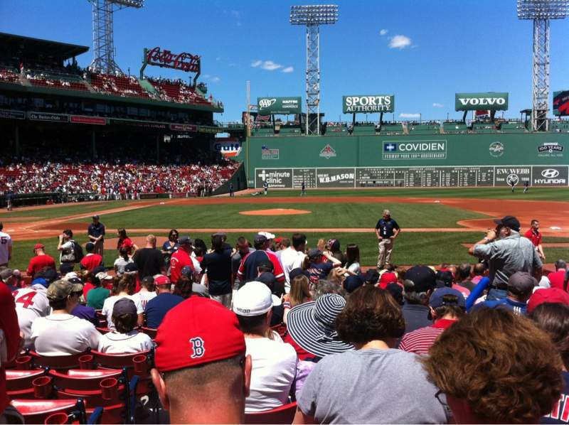 Seating view for Fenway Park Section Field box 31 Row K Seat 2