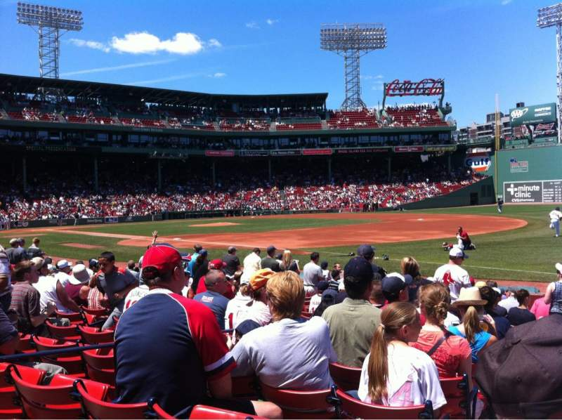 Seating view for Fenway Park Section Field box 11 Row K Seat 4
