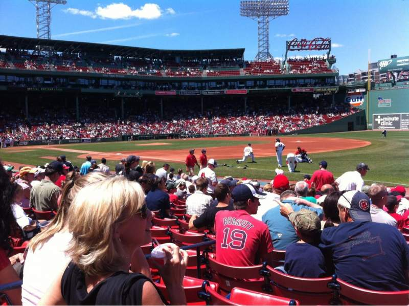 Seating view for Fenway Park Section Field box 10