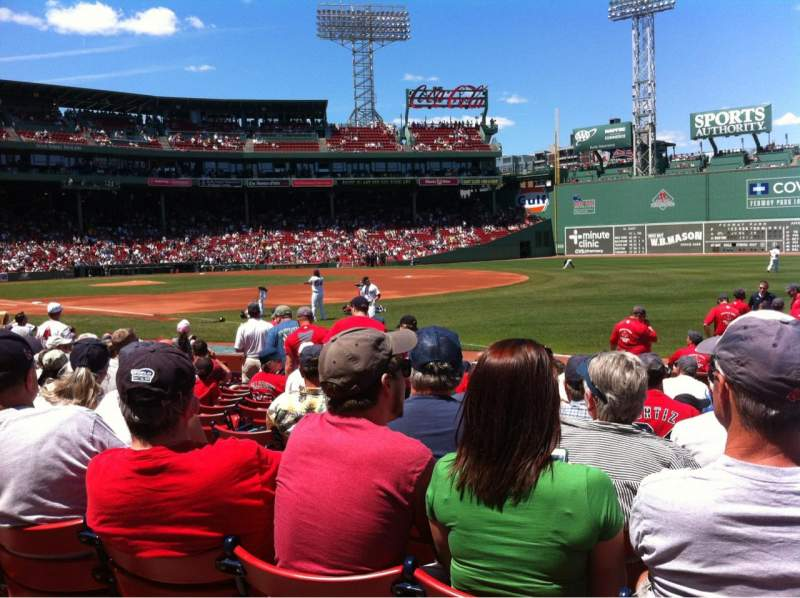 Seating view for Fenway Park Section Field Box 9 Row K Seat 2
