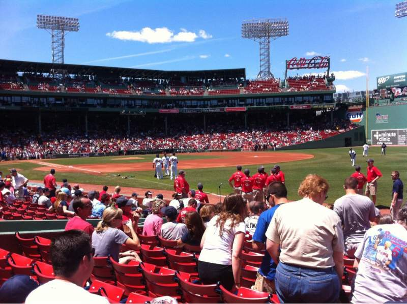Seating view for Fenway Park Section Right Field Box 8 Row K Seat 1