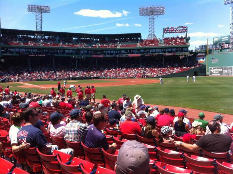 Seating view for Fenway Park Section Right Field box 95 Row Bb Seat 1