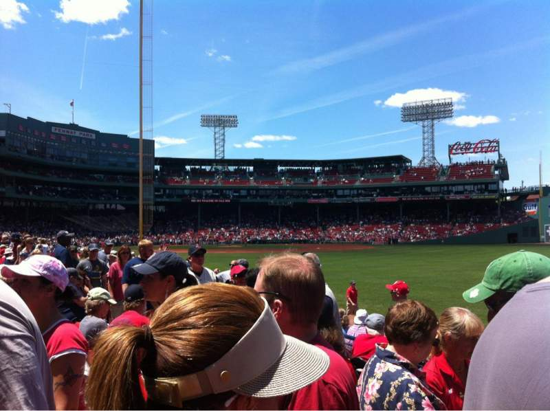 Seating view for Fenway Park Section Right Field box 91 Row Ee Seat 1